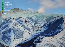 skiurlaub, winterurlaub,  filzmoos, salzburg, salzburgerland, ski amadé,, österreich - Panorama Skigebiet Filzmoos
