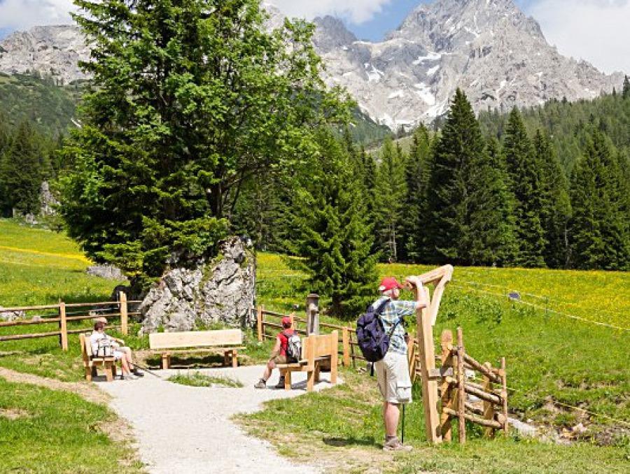 Kraftplatzwanderungen Filzmoos - Naturhotel Hammerhof, SalzburgerLand - kraftplatz platz der dankbarkeit